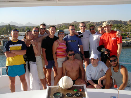 Polish dive group in Sharm