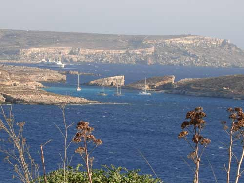 looking across from Gozo to Malta